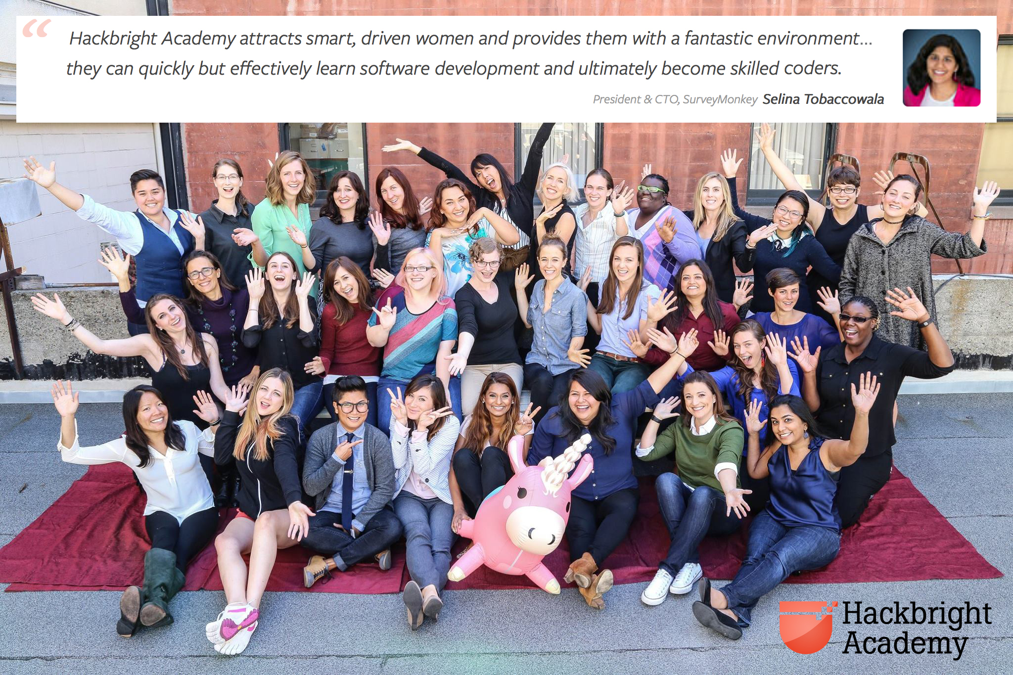 Hackbright Academy - Fall 2015 Career Day is December 1, 2015 - meet 34 female software engineers!