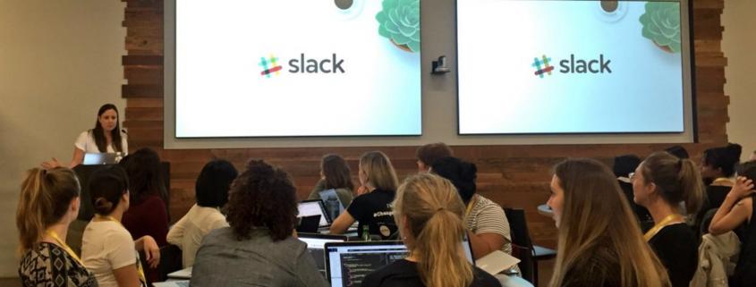 Roo presenting at Slack