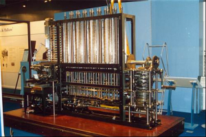 Charles Babbage's Difference Engine, built 1991 London Science Museum