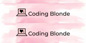 coding blonde